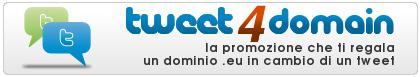 Riparte Tweet4Domain, la promozione che ti regala un dominio in cambio di un tweet