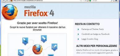 Quali sono le novità di Firefox 4?