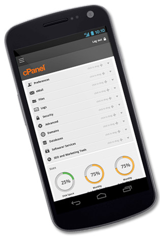 Nuova interfaccia mobile friendly per cPanel