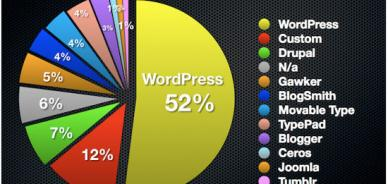 WordPress aumenta il dominio sui principali blog del web