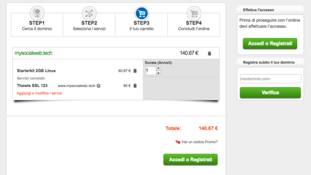 come acquistare hosting e dominio