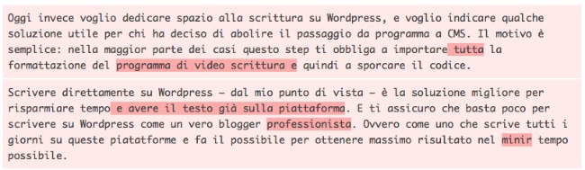 Scrivere con WordPress