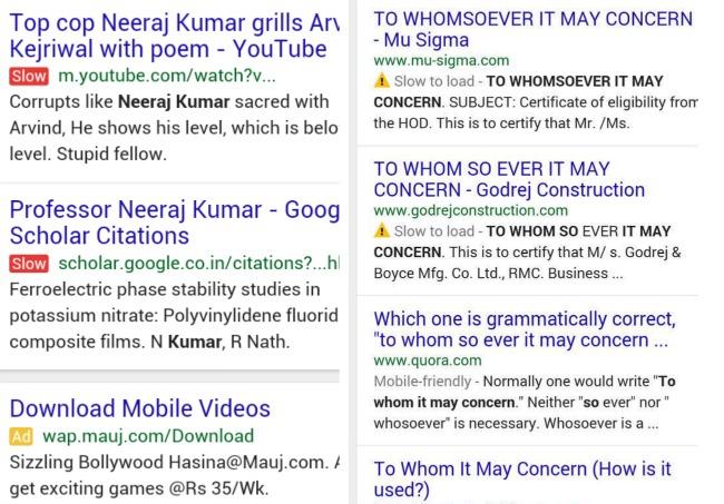 Sito lento: Google prova nuove etichette nella SERP