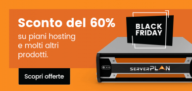 Black Friday 2018: offerte hosting e domini