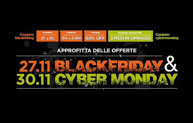 Black Friday: Offerte Hosting e Domini di Serverplan