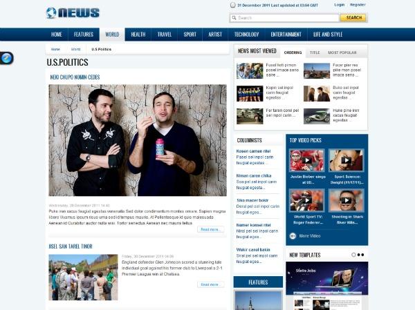 template Joomla per creare un magazine online
