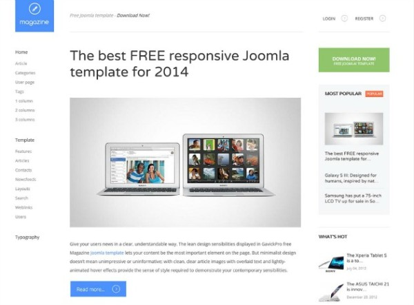 magazine online joomla