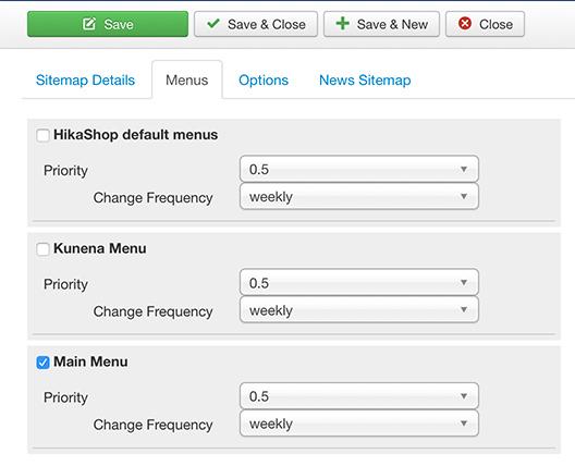 Come creare una sitemap per Joomla