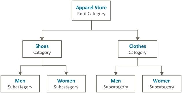 struttura delle categorie Magento