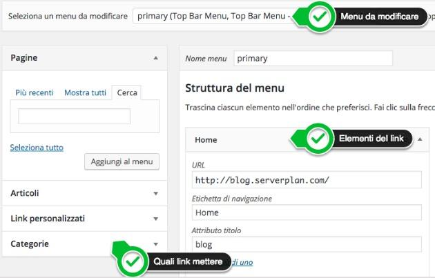 Come creare un menu di navigazione
