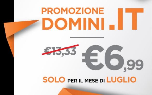 Continuano le offerte: domini .IT a 6,99 € anche a luglio
