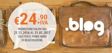 Promo di lancio: dominio .blog disponibile a € 24.90 +IVA