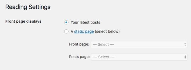 Come impostare una home page statica