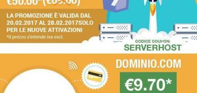 Offerte di febbraio: dominio .com e Hosting Startup + dominio .it