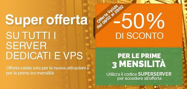Offerta server dedicati e VPS