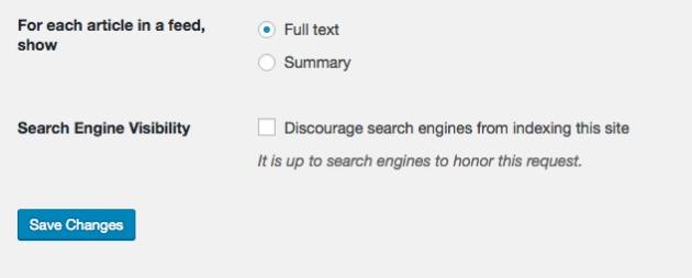 Scoraggia i motori di ricerca a effettuare l'indicizzazione di questo sito