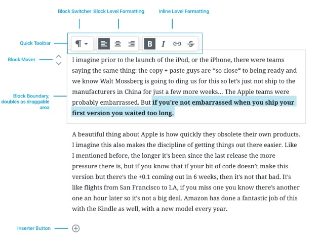 Il nuovo editor WordPress