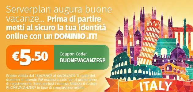 Dominio .it a 5.50 Euro: proteggi il tuo brand con Serverplan