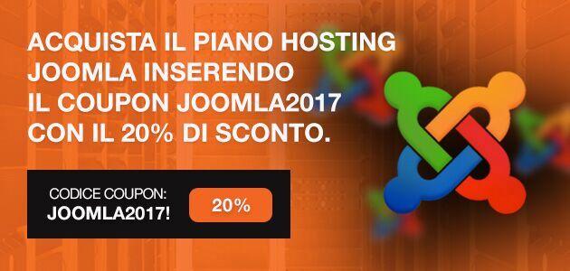 Offerta hosting Joomla: 20% di sconto per il primo anno