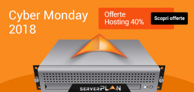 Cyber Monday: sconto su hosting del 40%