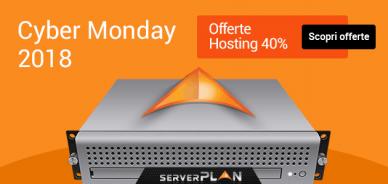 Cyber Monday: sconto su hosting del 40%