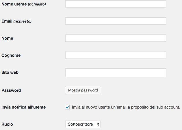 permessi utenti wordpress