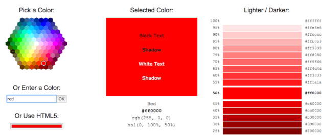 trovare colore html