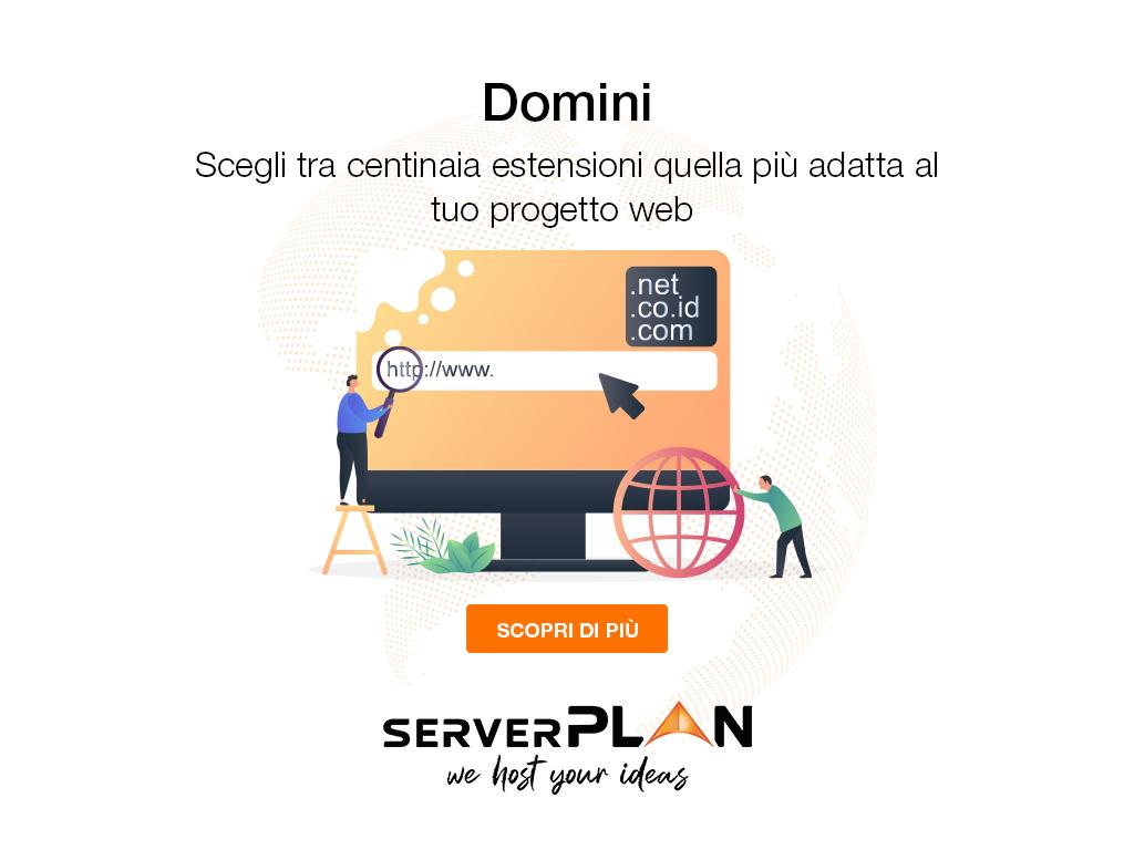 Registrazione domini - Registrazione dominio - Registra ora il tuo dominio su Serverplan!